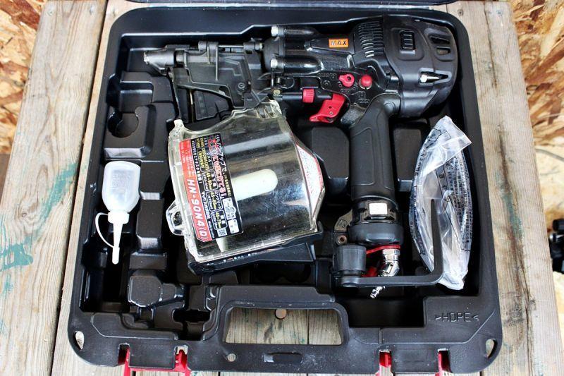 画像1: 美品 マックス 90mm高圧釘打機 HN-90N4(D)買取しました! (1)