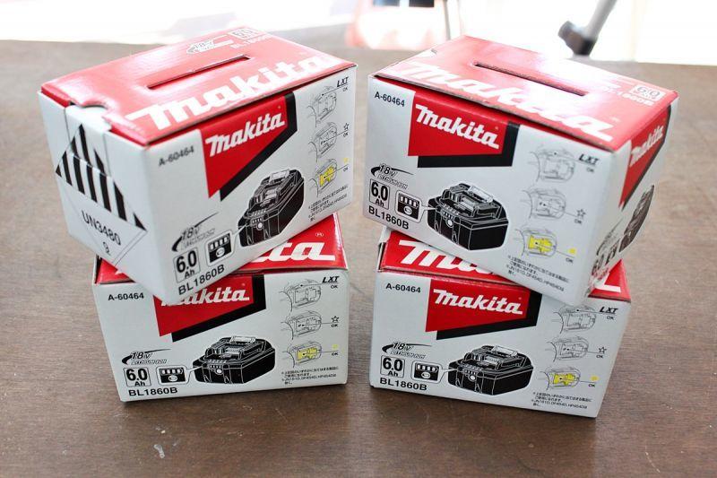 画像1: 新品 4個 買取させていただきました。マキタ バッテリー BL1860B 格安販売 (1)