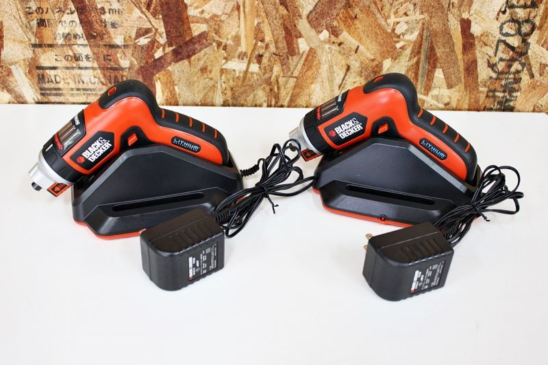 画像1: DIYに!ブラックアンドデッカー 充電ドライバー AS36LN 2台 買取させていただきました。 (1)