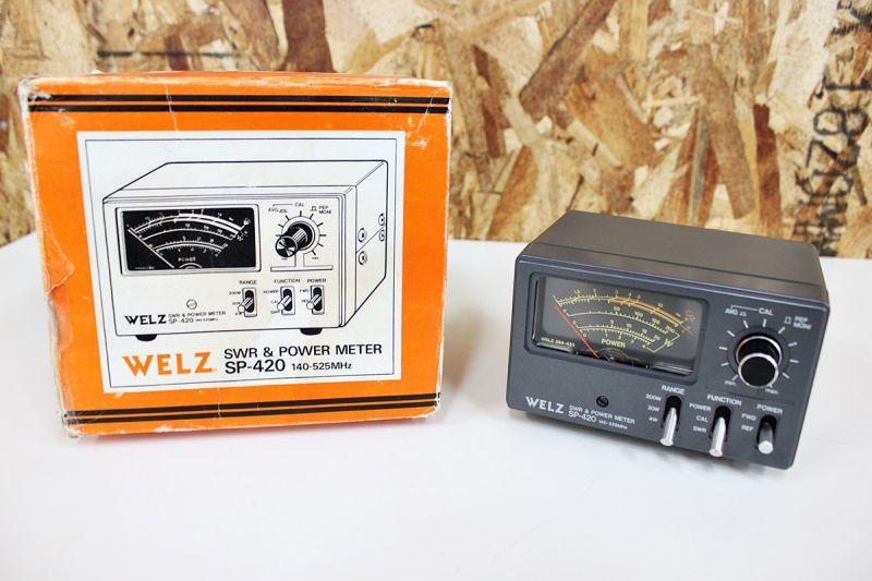 画像1: マニアック品買取OK! WELZ SWR&パワー計 SP-420 買取させていただきました。 (1)