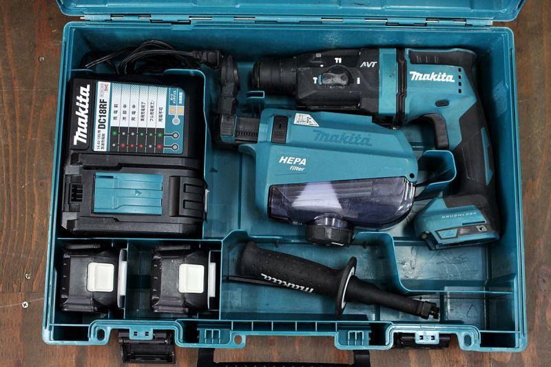 画像1: フルセット マキタ 18V充電式ハンマドリル HR182DRGXV 集じんシステム 買取させていただきました。  (1)