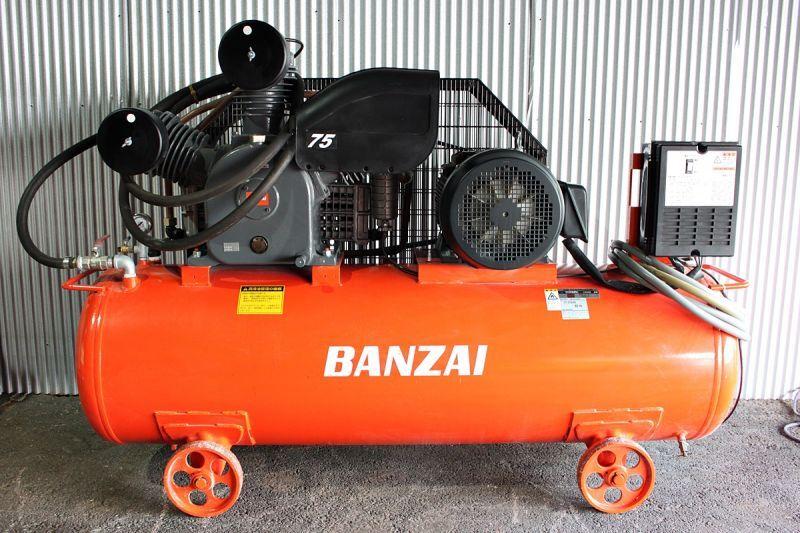 画像1: 出張買取 バンザイ 10馬力コンプレッサー CT-375LRG 買取させていただきました。ツールヤード岡山 (1)