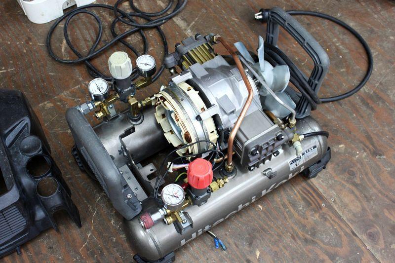 画像1: 不動コンプレッサー買取 自社修理ができるから高価買取できます!日立 EC1433H ツールヤード岡山 (1)